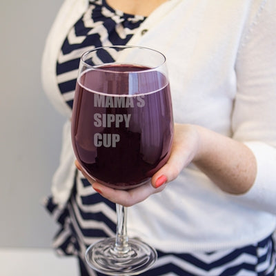 Personalized 25 oz. Novelty XL Wine Glass