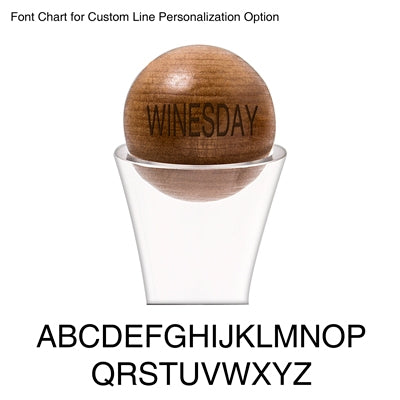 Personalized 67.62 oz. Large Wine Decanter with Wood Stopper