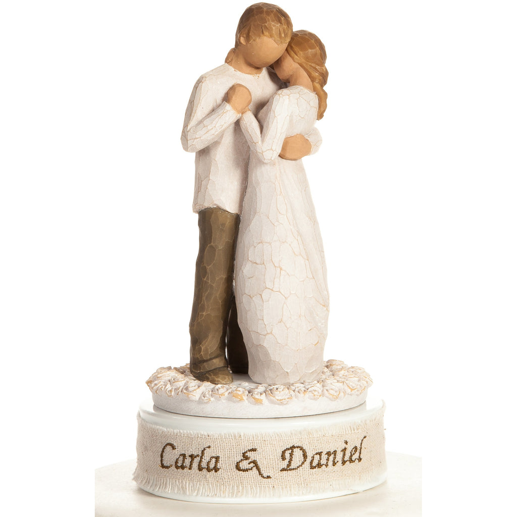 "Personalized Embroiderey Willow Tree ® ""Promise"" Wedding Cake Topper"