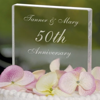 Personalized Celebration Cake Topper 50th or 25th (Custom Number and Text)
