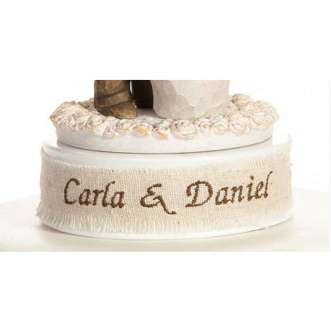 Personalized Embroidery DIY Cake Topper Base