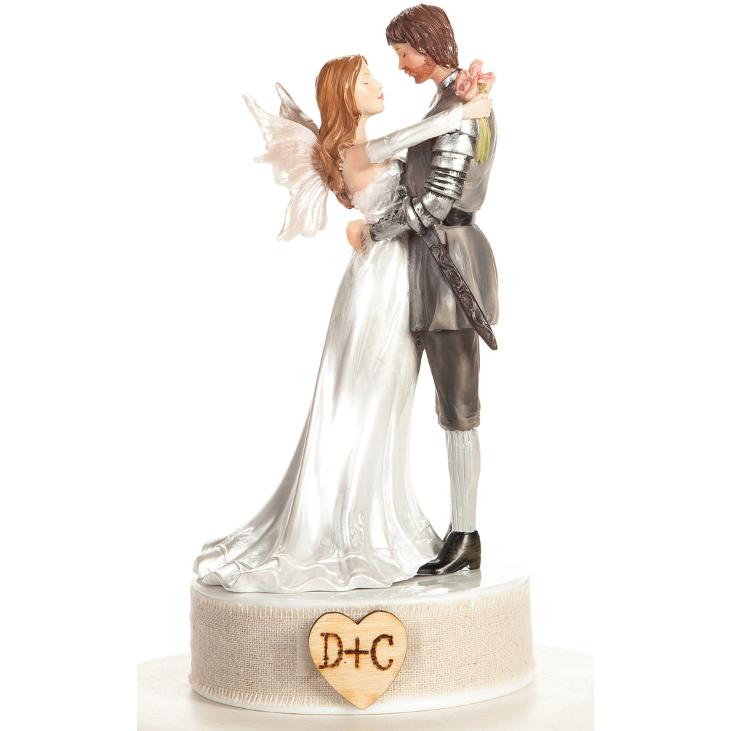 Personalized Rustic Fantasy Fairy Wedding Cake Topper