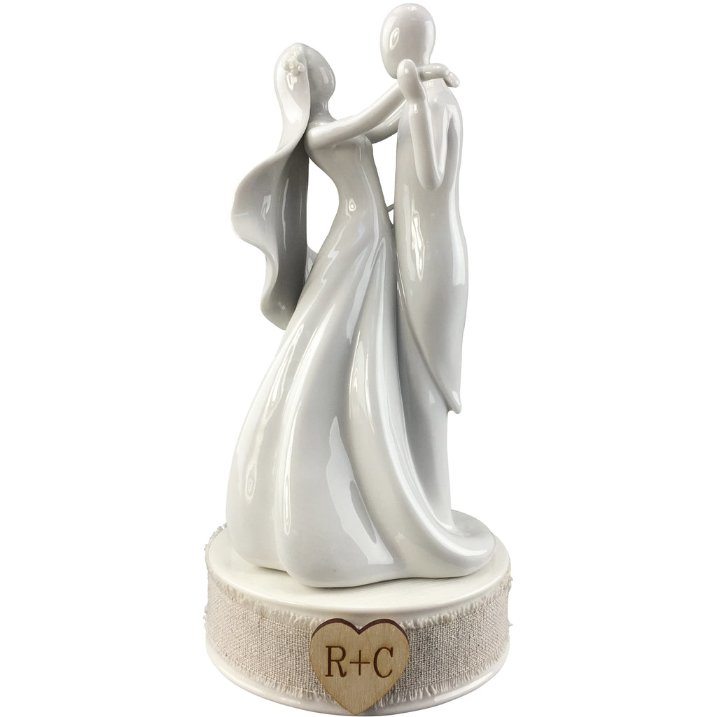 Personalized Rustic Stylized Dancing Wedding Cake Topper