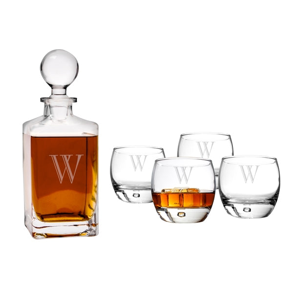 Personalized Square Decanter Set