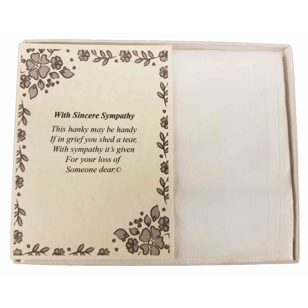 Personalized Sympathy Bereavement Poetry Men's Handkerchief Gift Keepsake Ideas for Loved One