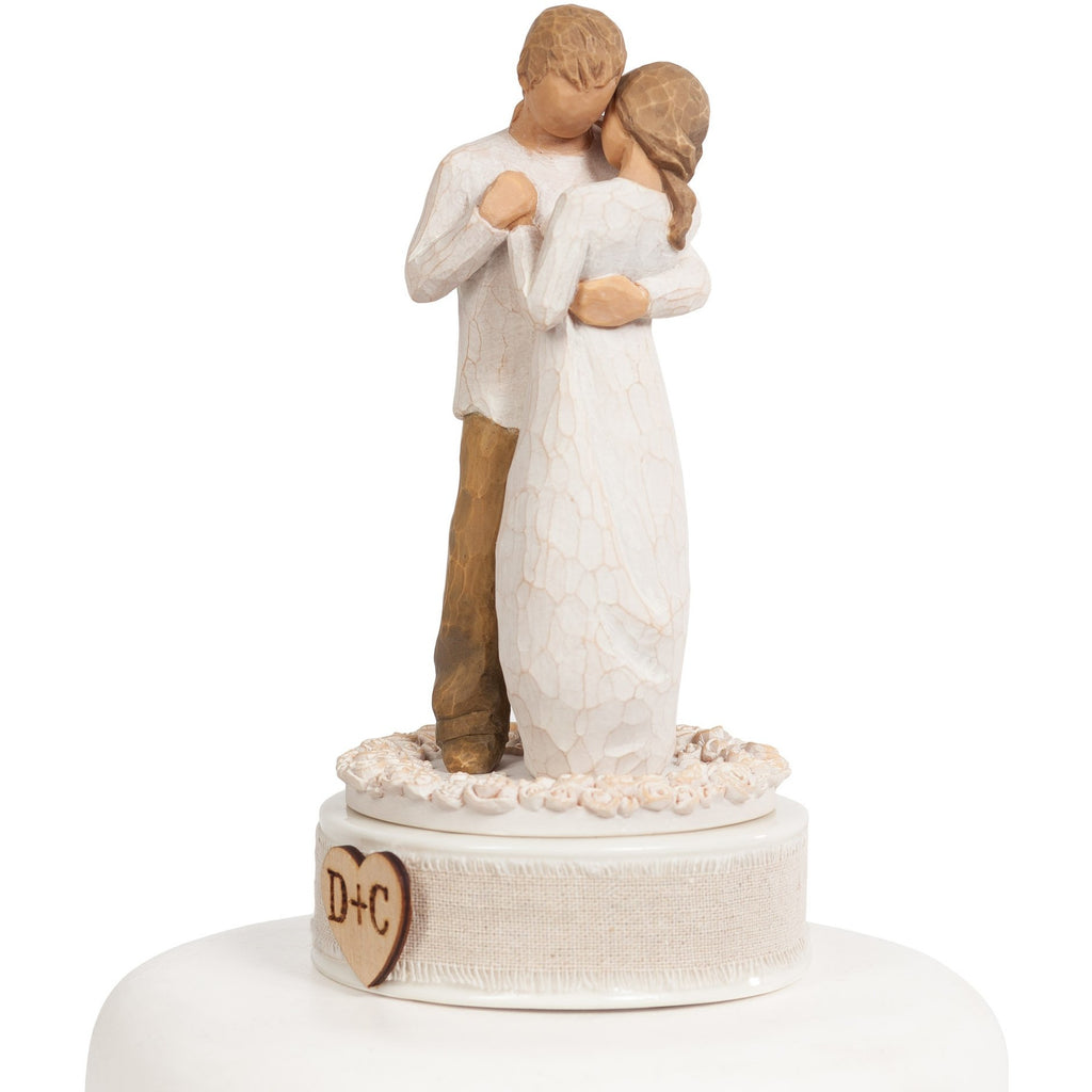 "Personalized Willow Tree ® ""Promise"" Wedding Cake Topper"