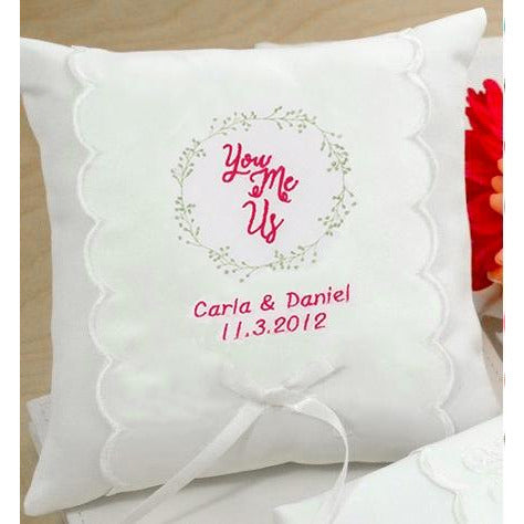 Personalized You Me Us Wedding Ring Pillow Wedding Collectibles