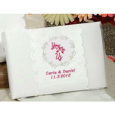 Personalized You, Me, Us Wedding Guestbook