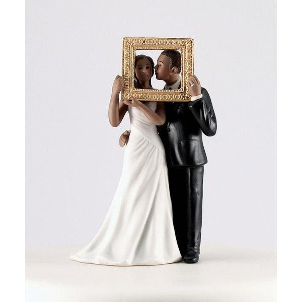 """Picture Perfect"" Couple Figurine- Dark Skin Tone"