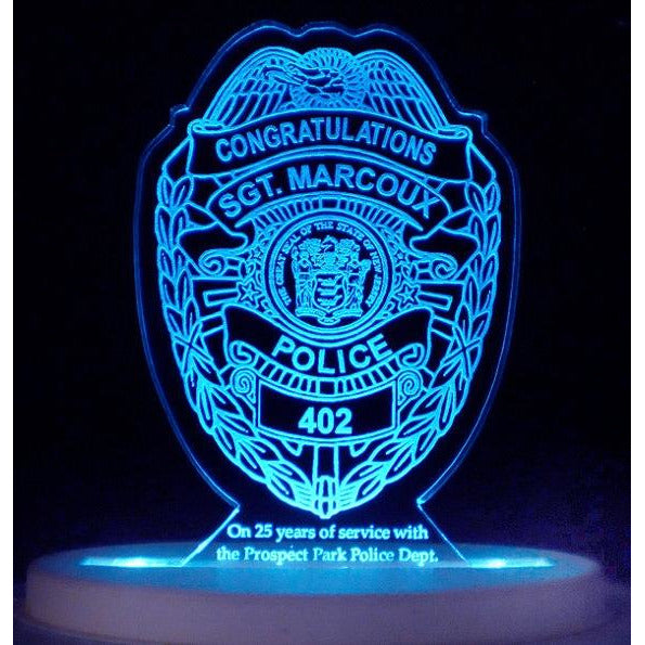 Police Retirement Light-Up Cake Topper
