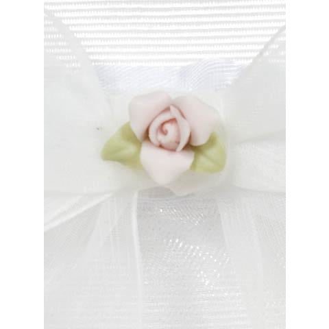 Porcelain Rose Bouquet Wedding Garter