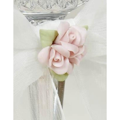 Porcelain Rose Bouquet Wedding Guestbook and Pen Set