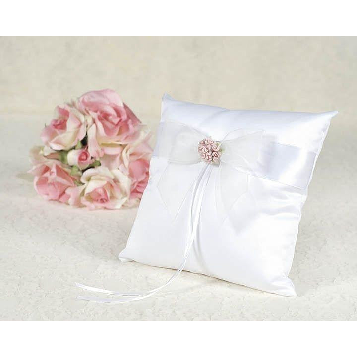 Porcelain Rose Bouquet Wedding Ring Bearer Pillow
