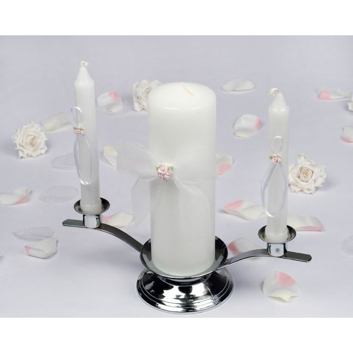 Porcelain Rose Bouquet Wedding Unity Candle Set