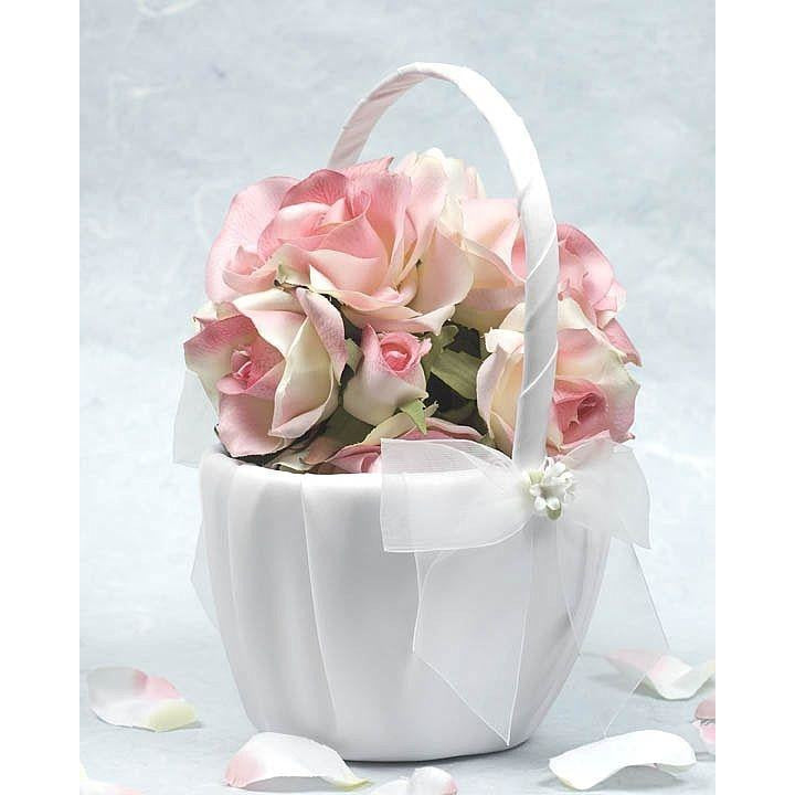 Porcelain Stephanotis Bouquet Wedding Flowergirl Basket