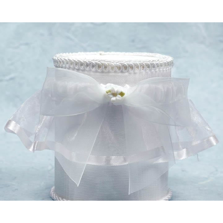 Porcelain Stephanotis Bouquet Wedding Garter