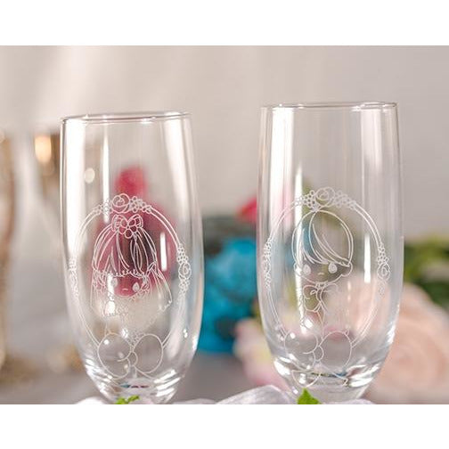 Precious Moments ® Bride & Groom Wedding Toasting Glasses