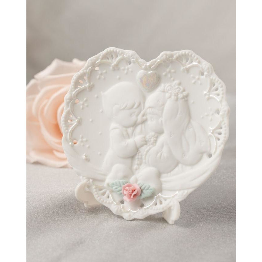 Precious Moments ® Forever True Porcelain Decorative Wedding Mini Plate