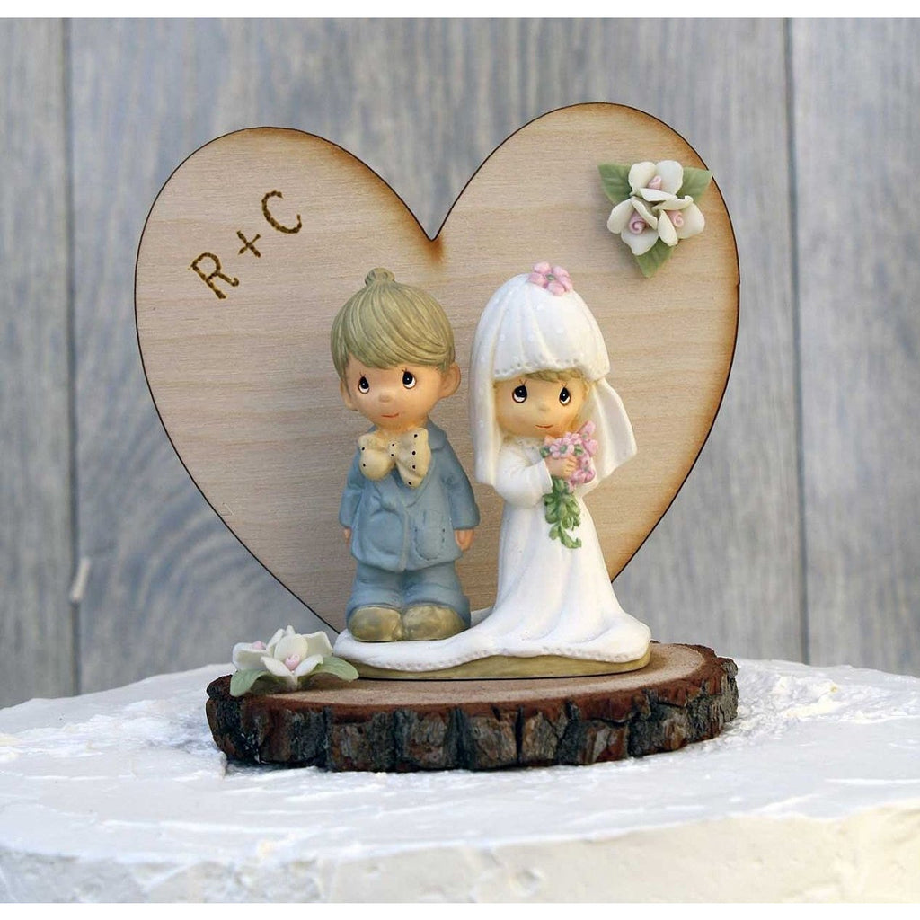 Precious Moments Rustic Wedding Cake Topper