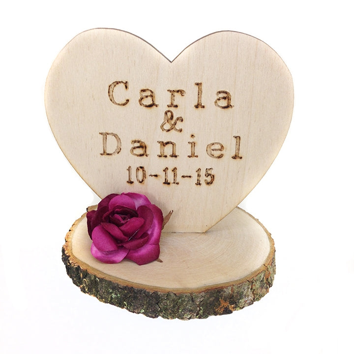 Custom Rustic Wedding Cake Topper