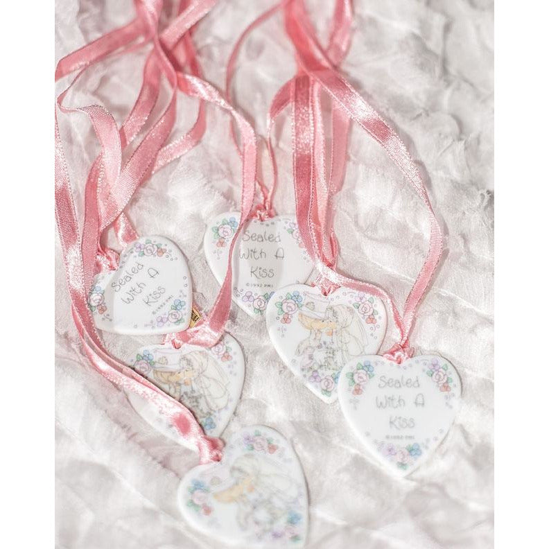 "Precious Moments ""Sealed With A Kiss"" Medallion Wedding Favor - Set of 6"