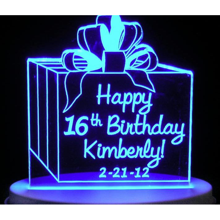 Present Sweet 16/15 Light-Up Caketopper