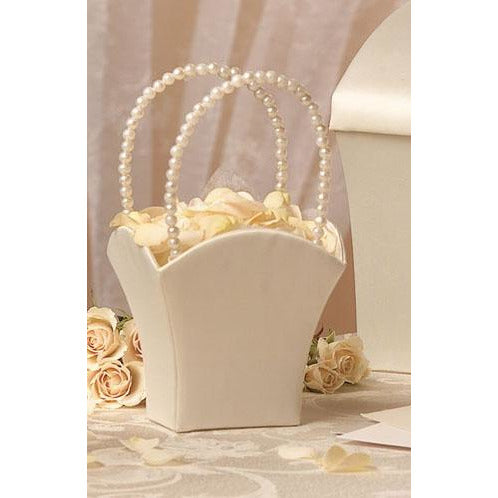 Pure Simplicity Pearl Handle Flower Basket