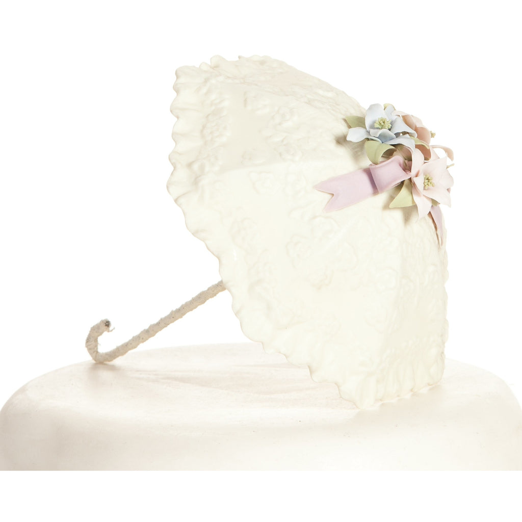 Pastel Flower Parasol Umbrella Bridal Shower Baby Shower Cake Topper