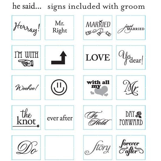Read My Sign - Groom Figurines