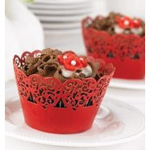 Red Decorative Cupcake Wraps