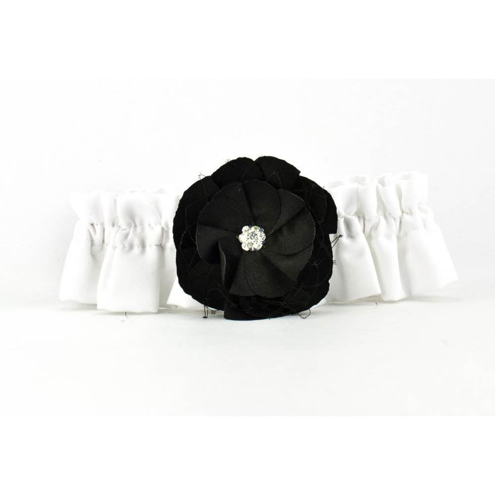 Black Rose Wedding Garter