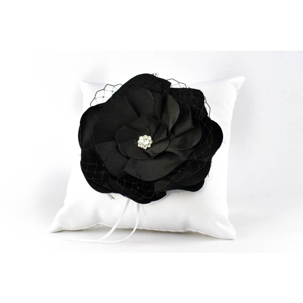 Black Rose Wedding Ring Bearer Pillow