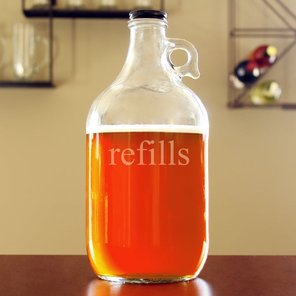 """Refills"" Glass Growler"