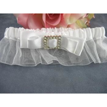 Rhinestone Embroidered Elegance Wedding Garter