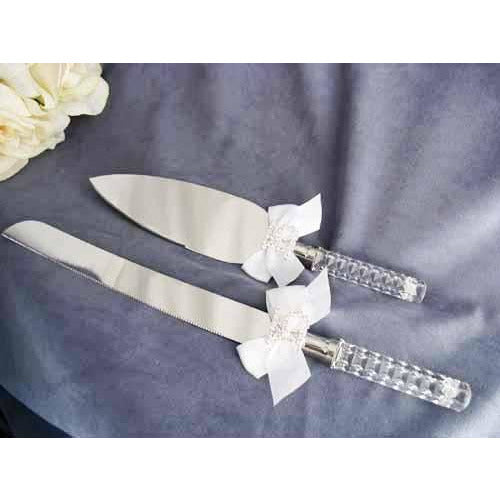 Rhinestone Quinceanera Cake Server Set
