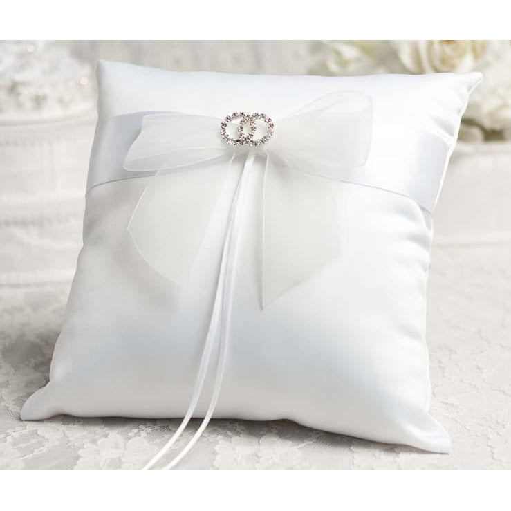 Rhinestone Rings Wedding Ring Bearer Pillow