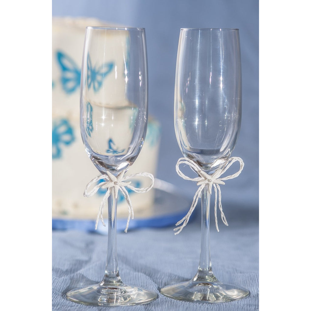 Starfish Beach Wedding Toasting Glasses