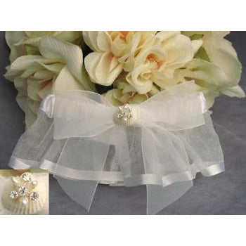 Rhinestone Shell Hawaiian Beach Wedding Garter