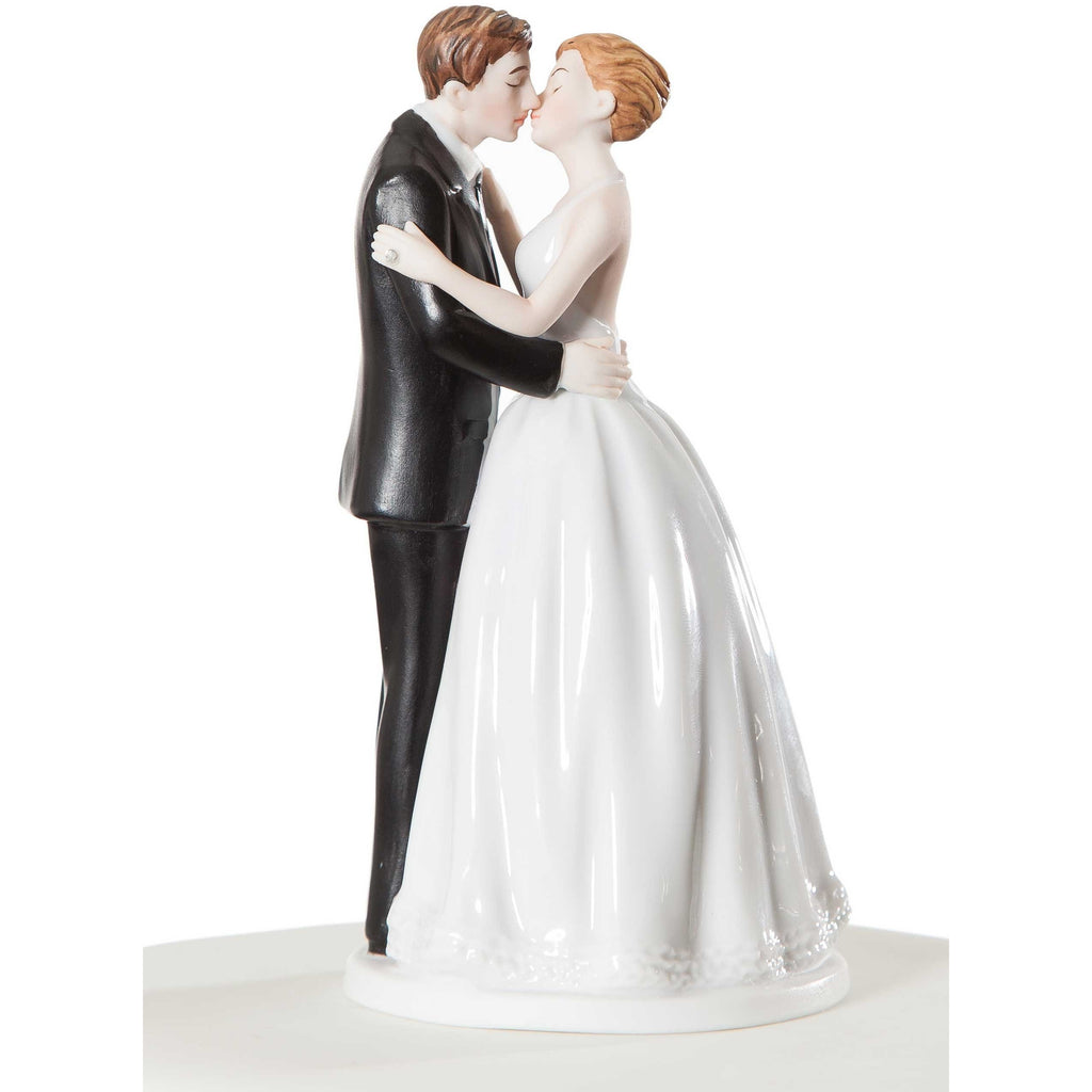 """Romance"" Kissing Couple Wedding Cake Topper Figurine"