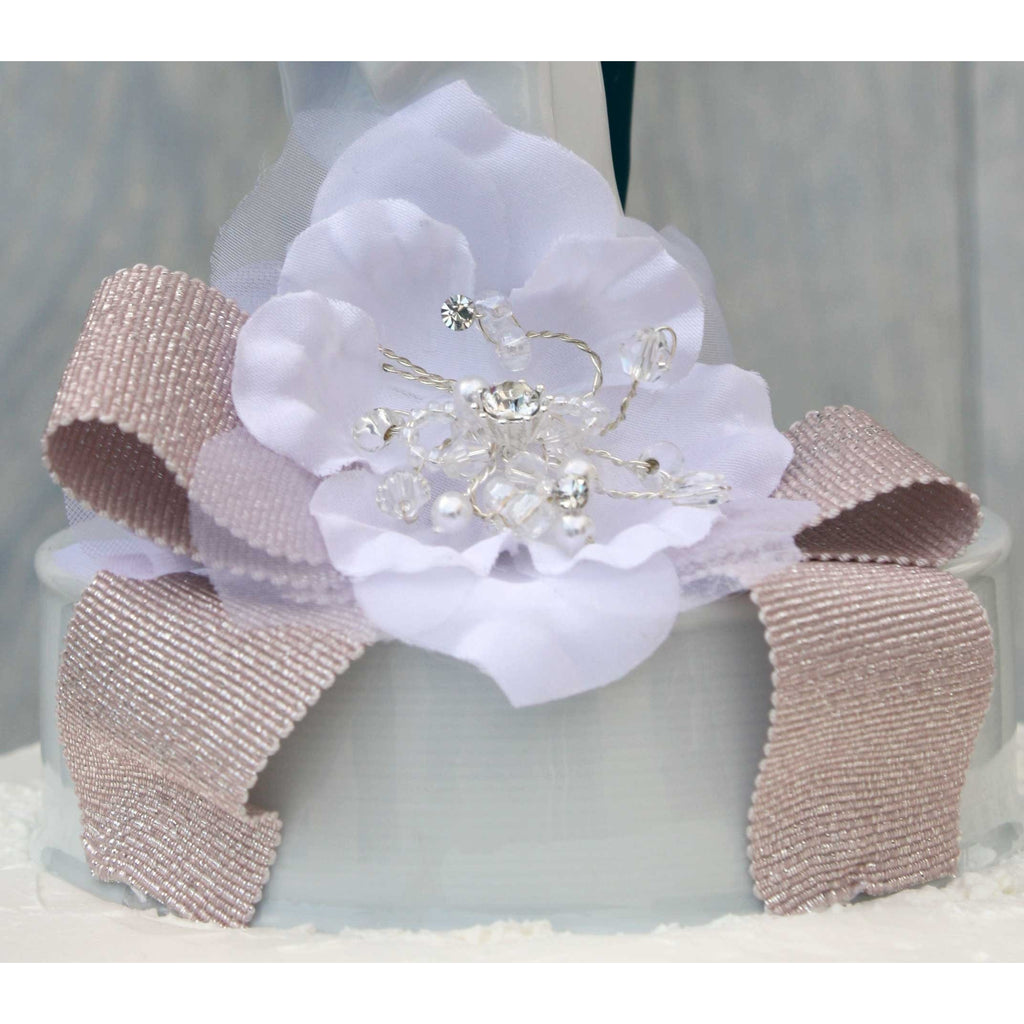 Romance Ribbon Accent Cake Topper- Custom Colors!