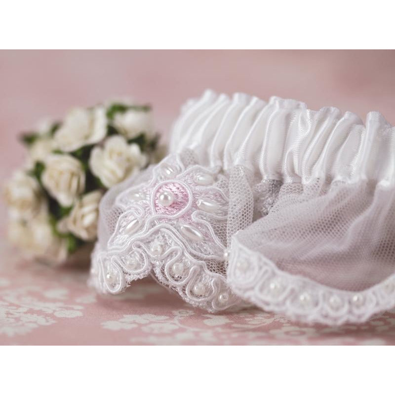 Rose Applique Wedding Garter