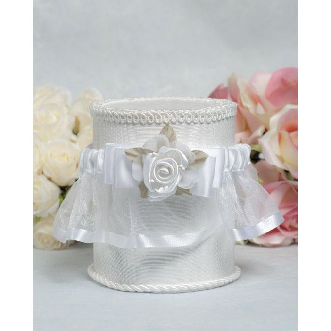 Rose Plush Satin and Organza Wedding Garter