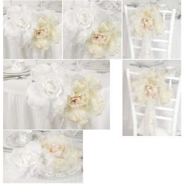 """Rose Romance"" Wedding Decorations- White, Ivory, and Red"