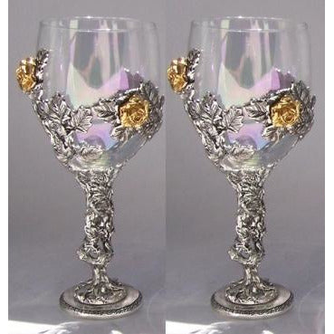 Rose Vine Wedding Toasting Glasses Set (Set of 2)