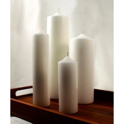 Round Pillar Wedding Candle Decorations
