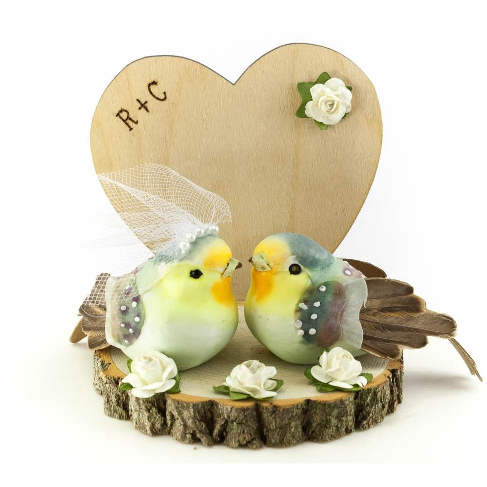 Rustic Love Bird Cake Topper