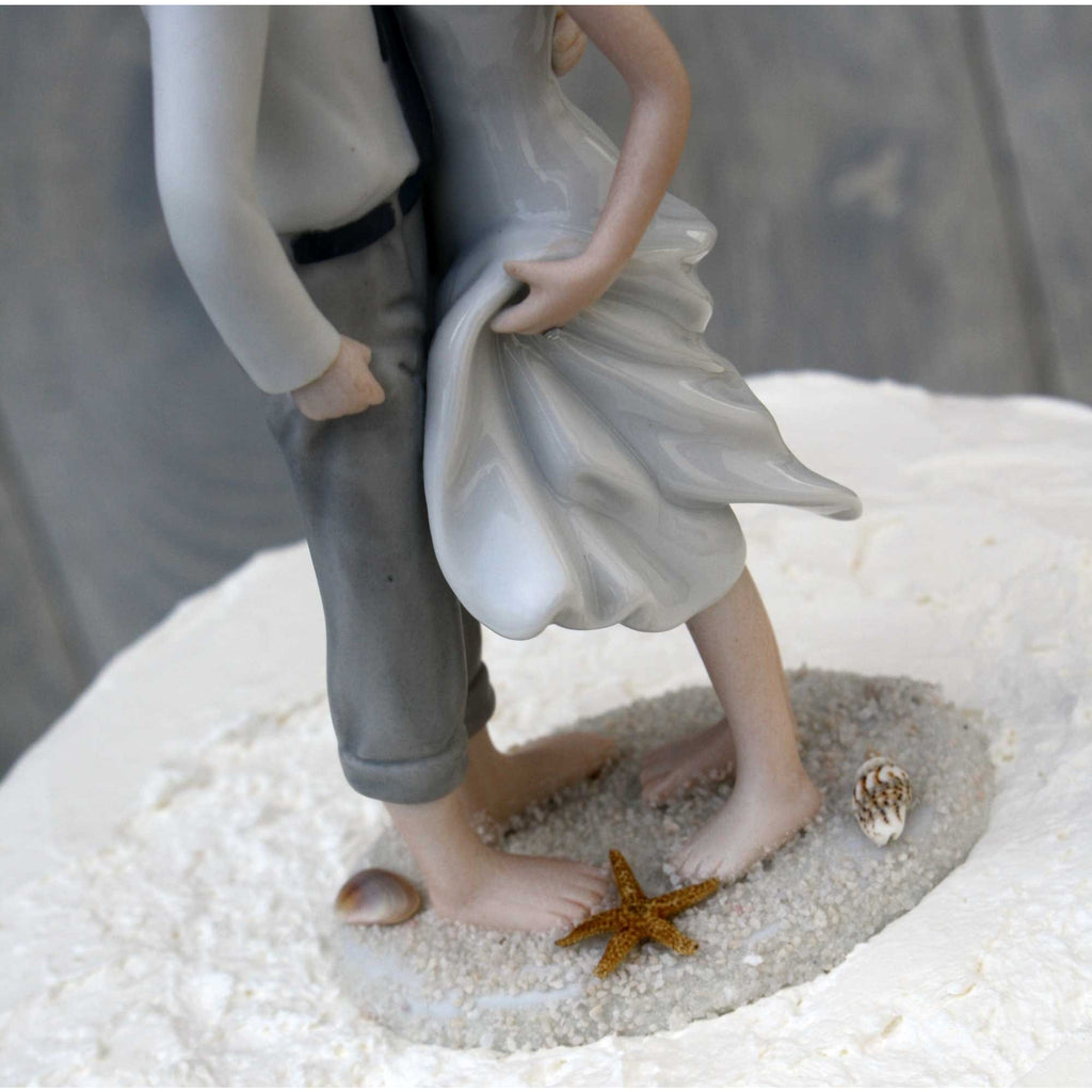 """Sand and Shells "" Wedding Cake Topper"