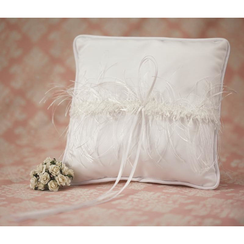 Satin and Silk Trim Wedding Ring Bearer Pillow