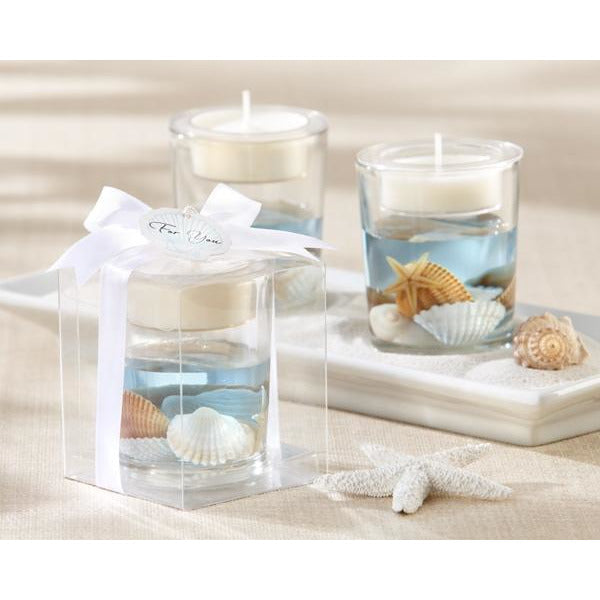 """Seashells"" Seashell Gel Tealight Holder"