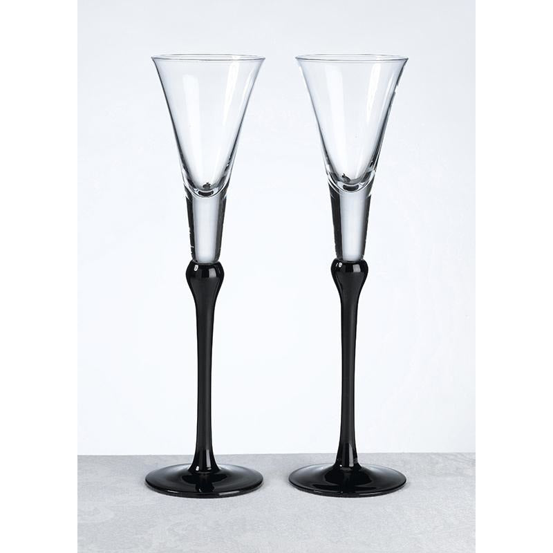 Set Of Tall Flutes -Black